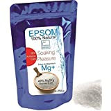 Pure Epsom Salt Natural Magnesium ● Resealable stand-up pouch ● Easy-to-Use ● Food Grade, SPA and At-Home Care Soaking Pleasure ● 250g ● Health, Beauty , Fitness & Wellness, Crafts, Gardening