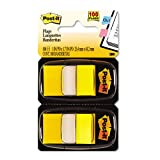 Post-it : Marking Flags in Dispensers, Yellow, 12 50-Flag Dispensers per Pack -:- Sold as 2 Packs of - 6 - / - Total of 12 Each