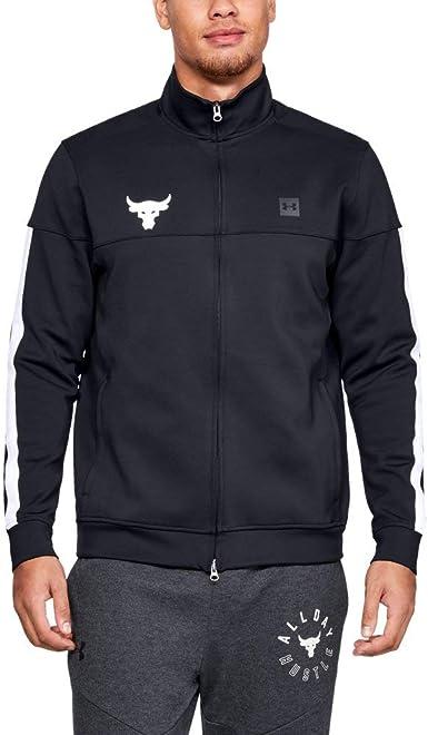 Pensativo azafata Actual  Amazon.com: Under Armour Men's Project Rock Track Jacket (Small)  Black/White: Clothing