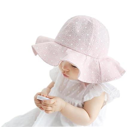 Fenleo Kids Baby Boys Girls Plaid Pattern Sun Protection Wide Brim Baby Sun Hat