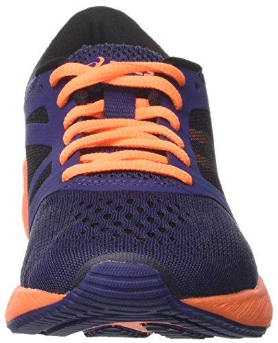 Asics Roadhawk Ff Gs, Zapatillas de Entrenamiento Unisex Bebé Azul (Indigo Blue/hot Orange/black)
