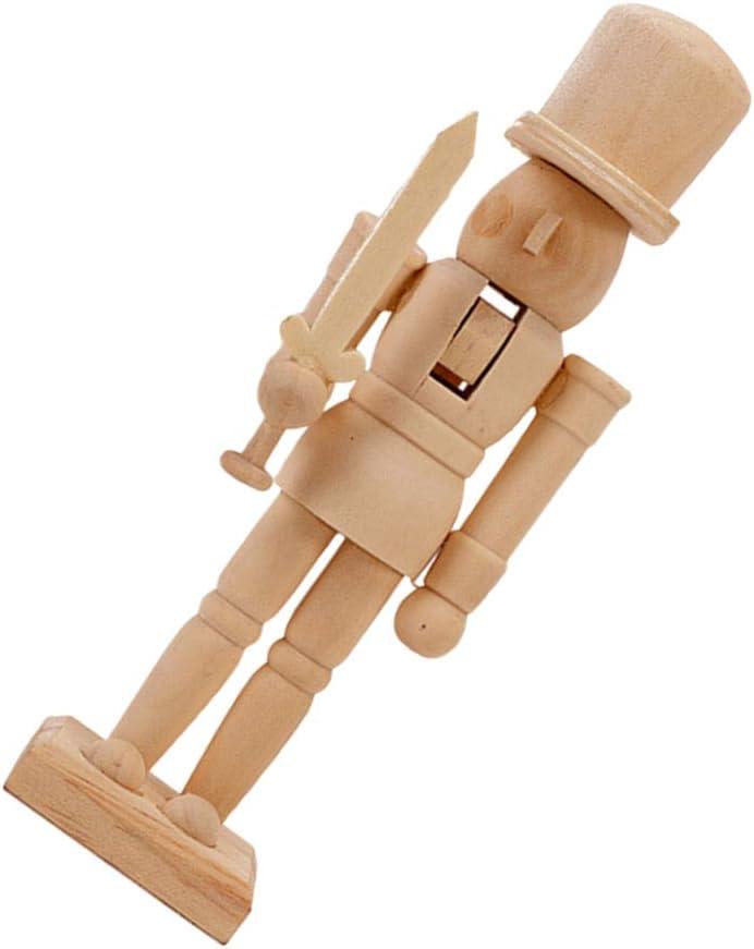 Wakauto Figuras de cascanueces de madera, muñeca de soldado, cascanueces, figuras de muñecas para Navidad, Año Nuevo, regalo para niños, pequeño artesanal, estado ajustable