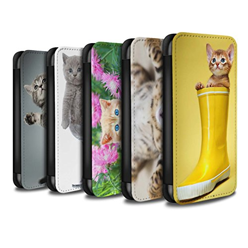Stuff4 Coque/Etui/Housse Cuir PU Case/Cover pour Apple iPhone 8 / Multipack Design / Chatons mignons Collection