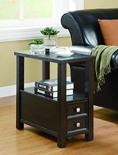 Coaster Home Furnishings Chairside Table with Storage Drawer Cappuccino