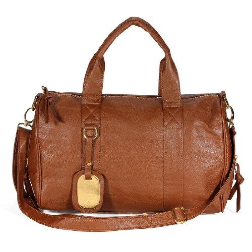 Tasche mit Händen Nietschloß Braun - braun
