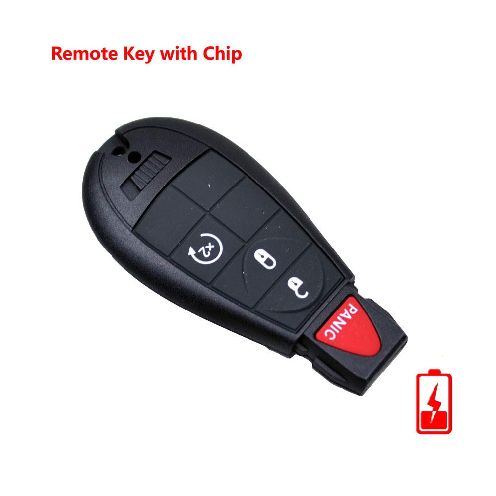 FLYPIG Replacement Remote Keyless Fob Key For Chrysler Dodge Durango Grand Caravan Journey Ram 1500 2500 3500 Jeep Grand Cherokee IYZC01C GQ4-53T M3N5WY783X