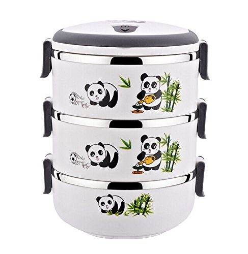 Three-layer Insulated Stainless Steel Bento Box Creative ...