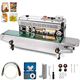 Happybuy FR-900 Continuous Band Sealer Automatic Horizontal Sealing Sealer 110V with Digital Temperature Control Continuous Sealing Machine for PVC Membrane Bag Film
