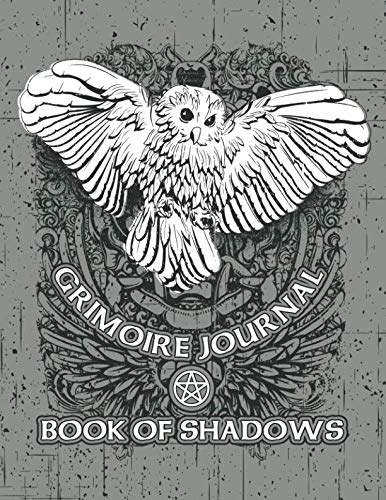 Grimoire Journal Book of Shadows: White Owl Pagan Spell -