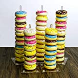 Donuts Stand,Clear Acrylic Doughnut Donut Stand Display Holder for Wedding Patry Birthday Decorations,Kitchen,Shop,Dount Hole Baker,Boy Kids,Girls's Mini Donuts Favors,Tiered Display Tower Tree, 5 Sti