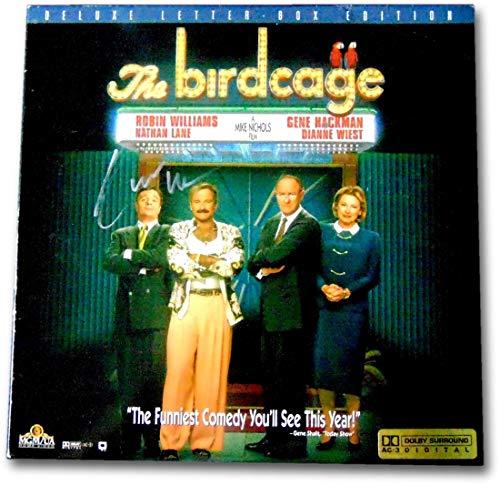 (Robin Williams Signed Autographed Laserdisc Cover The Birdcage JSA CC77019)