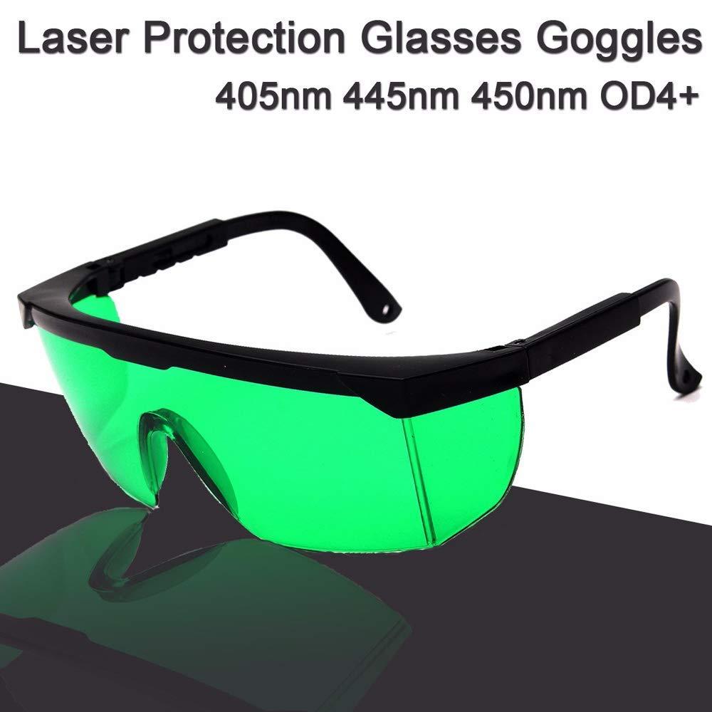 Blau Violett Licht 5500 mW 445nm Lasermodul Gravurwerkzeug mit Schutzbrille f/ür DIY Carving Graviermaschine Laser Gravierer Zubeh/ör