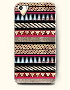 OOFIT Aztec Indian Chevron Zigzag Native American Pattern Hard Case for Apple iPhone 5 5S ( iPhone 5C Excluded ) ( Traditional Aztec Ethic Print Pattern )