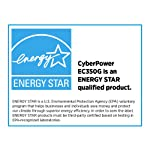 CyberPower EC350G Ecologic 350VA/255-Watts Energy Efficient Desktop UPS 13 550VA/330W Ecologic Battery Backup Uninterruptible Power Supply (UPS) 8 NEMA 5 to 15R OUTLETS: (4) Battery Backup & Surge Protected Outlets, (4) Surge Protected Outlets (3 ECO controlled) safeguard desktop computers, workstations, networking devices, and home entertainment systems LED STATUS LIGHTS: Indicate Power On and ECO Mode On/Off