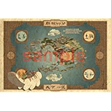 Avatar The Last Air Bender Map Poster (13x19 inches)