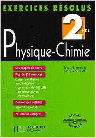 Aide aux devoir: Exercice De Physique 2nde