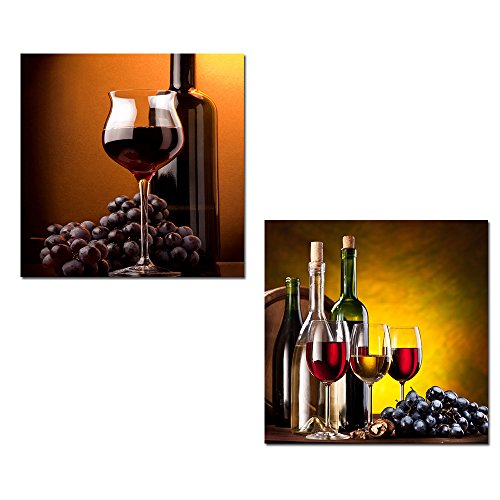 wine and grapes framed art - 3