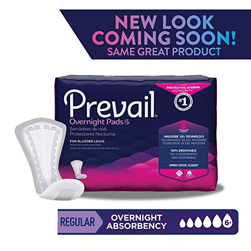 Prevail Overnight Absorbency Incontinence Bladder Control Pads, 4 Count