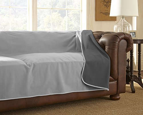 100% Waterproof Mambe Furniture Cover for Pets and People (Sofa 70″x120″, Dove-Slate)