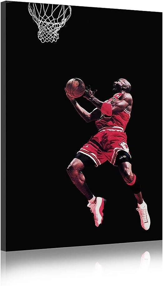 barricada Persona especial estoy feliz  Five-Seller Michael Jordan Basketball Star Impresión Fotográfica Lienzo  Pintado Fondo Negro Arte De La Pared, ON Enmarcado (60_x_90_cm): Amazon.es:  Hogar