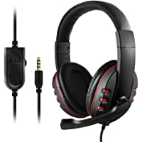 3.5mm Wired Gaming Headphones Over Ear Game Headset Noise Canceling Earphone with Microphone Volume Control for PC…