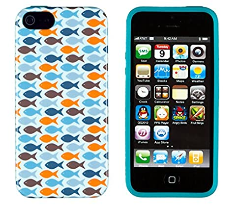 iPhone 4S Case, DandyCase PERFECT PATTERN *No Chip/No Peel* Flexible Slim Case Cover for Apple iPhone 4S / 4 - LIFETIME WARRANTY [Vintage Colorful (Iphone 4 Case Preppy)