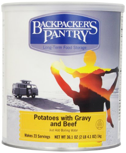 Backpacker's Pantry Mashed Potatoes and Gravy with Beef, 36.1 Ounces, #10 - In Colorado Shopping Outlet