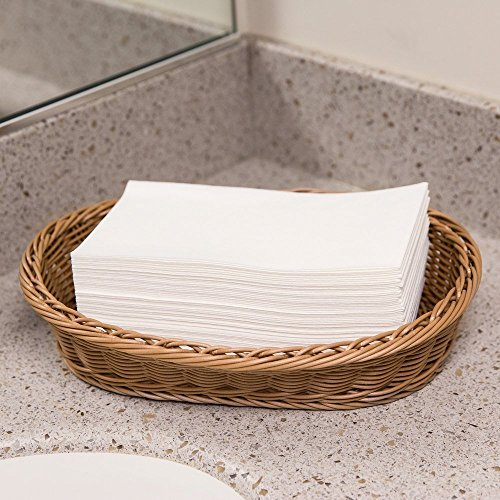 Disposable Cloth-Like Paper Hand Guest Towels – Soft, Absorbent, Air laid Tissue Paper for Kitchen, Bathroom or Events, White Guest Towel (1000) by eDayDeal