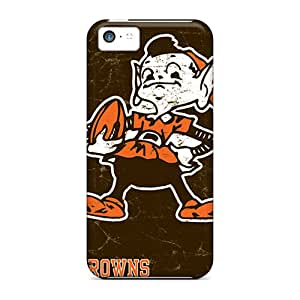 Spigencases Scratch-free Phone Case For Iphone 5c- Retail Packaging - Cleveland Browns