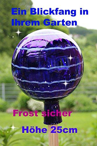 Gartenkugel (R4) Rosenkugel Gartenkugeln Rosenkugeln Glas 25 cm groß (Gartenstecker im Shop separat erhältlich)