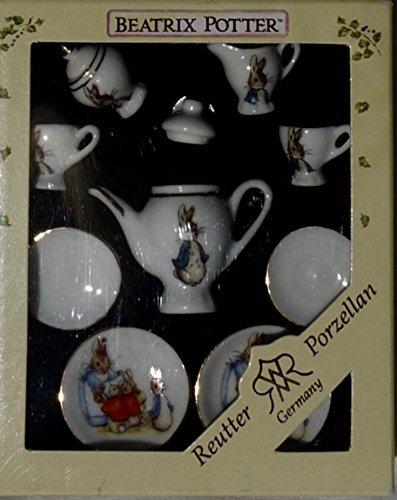 Reutter Porcelain Beatrix Potter MINIATURE 11 Piece Tea Set ()
