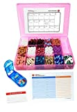 Vitamin & Supplement Pill Organizer Tray with 17 Compartments - Includes Free Pill Cutter, Medication Map & Medical Alert Card - Great Daily Pill Organizer - Large Supplement Organizer (Pink)