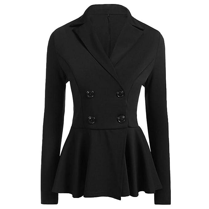 Women Slim Fit Suit Frill Casual Blazer Jacket Coat Tops Outwear Long Sleeve