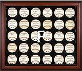 Sports Memorabilia Pittsburgh Pirates (2014-Present) Logo Mahogany Framed 30-Ball Display Case - Baseball Logo Display Cases