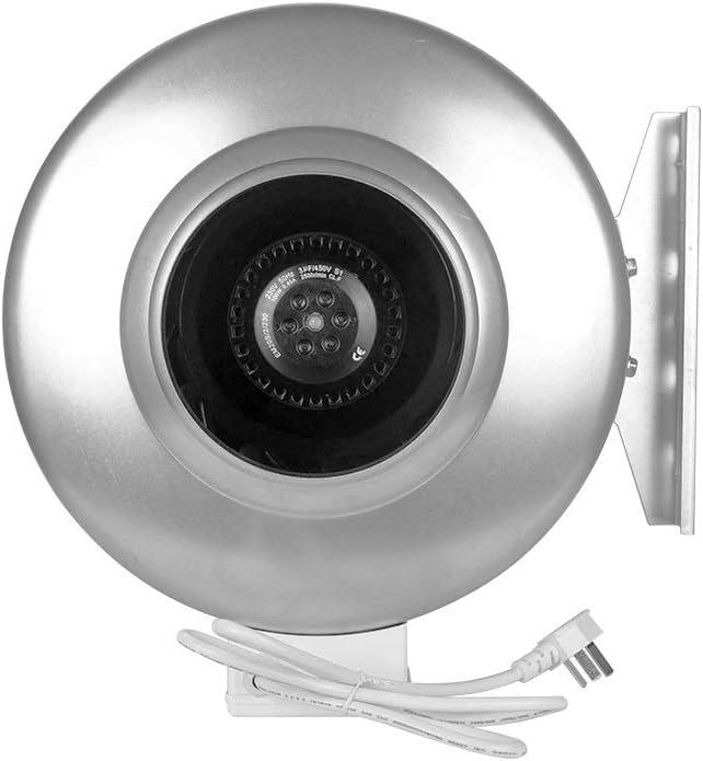 SCDMY Ventilador centrífugo en línea de Gran Capacidad Ventilador de extracción de ventilación de Cocina Extractor de Humo Potente Ventilador de extracción