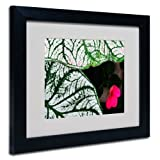 Trademark Fine Art Caladium Abstract by Kurt Shaffer, Black Frame 11x14-Inch