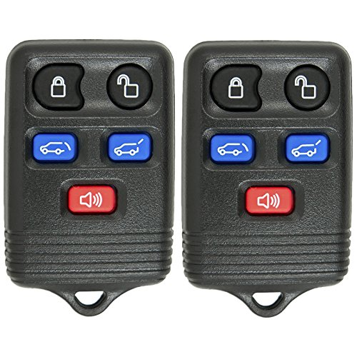 Keyless2Go Keyless Entry Remote Car Key Fob Replacement for Vehicles That Use CWTWB1U551, Self-Programming - 2 Pack ()