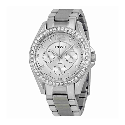 Fossil Women's ES3202 Riley Multifunction Stainless Steel (Fossil Womens Crystal Watch)
