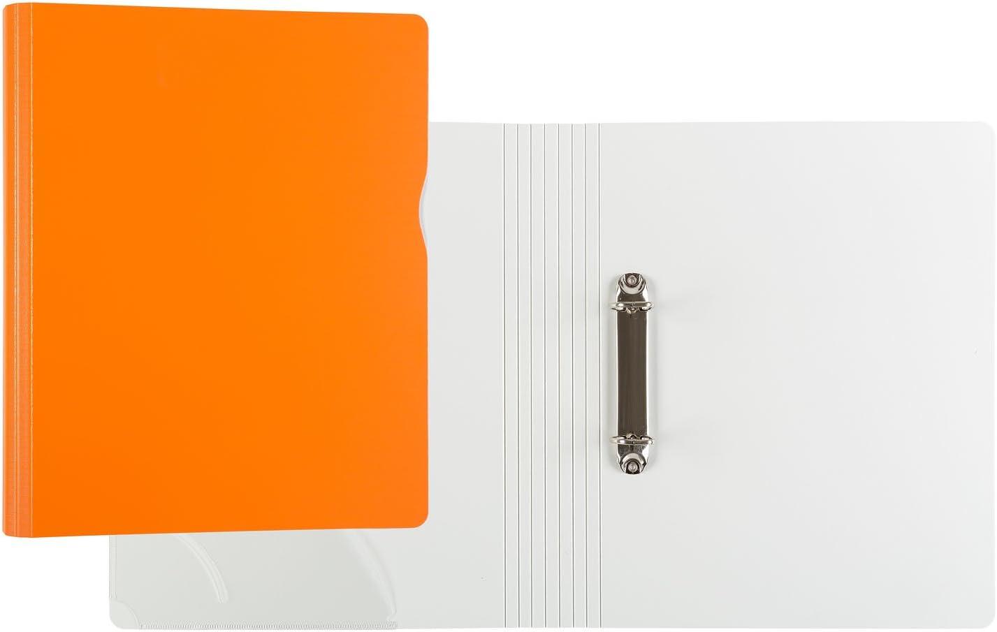 Iden Office 10073/raccoglitore ad anelli formato DIN A4 raccoglitore a Anelli a D Arancione