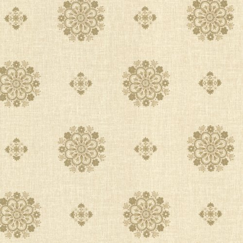 Beacon House 302-66828 Vintage Floral Medallion Wallpaper, ()