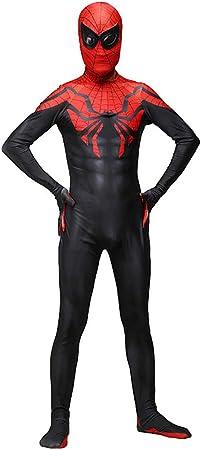 YUW Disfraz de Spiderman Adulto Niño Disfraz Cosplay Disfraz Mono ...