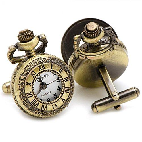 Números romanos relojes de bolsillo antiguos gemelos de oro: Amazon.es: Joyería