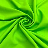 Lycra Matte Milliskin Nylon Spandex Fabric 4 Way Stretch 58' wide Sold By The Yard Many Colors (Neon Green)