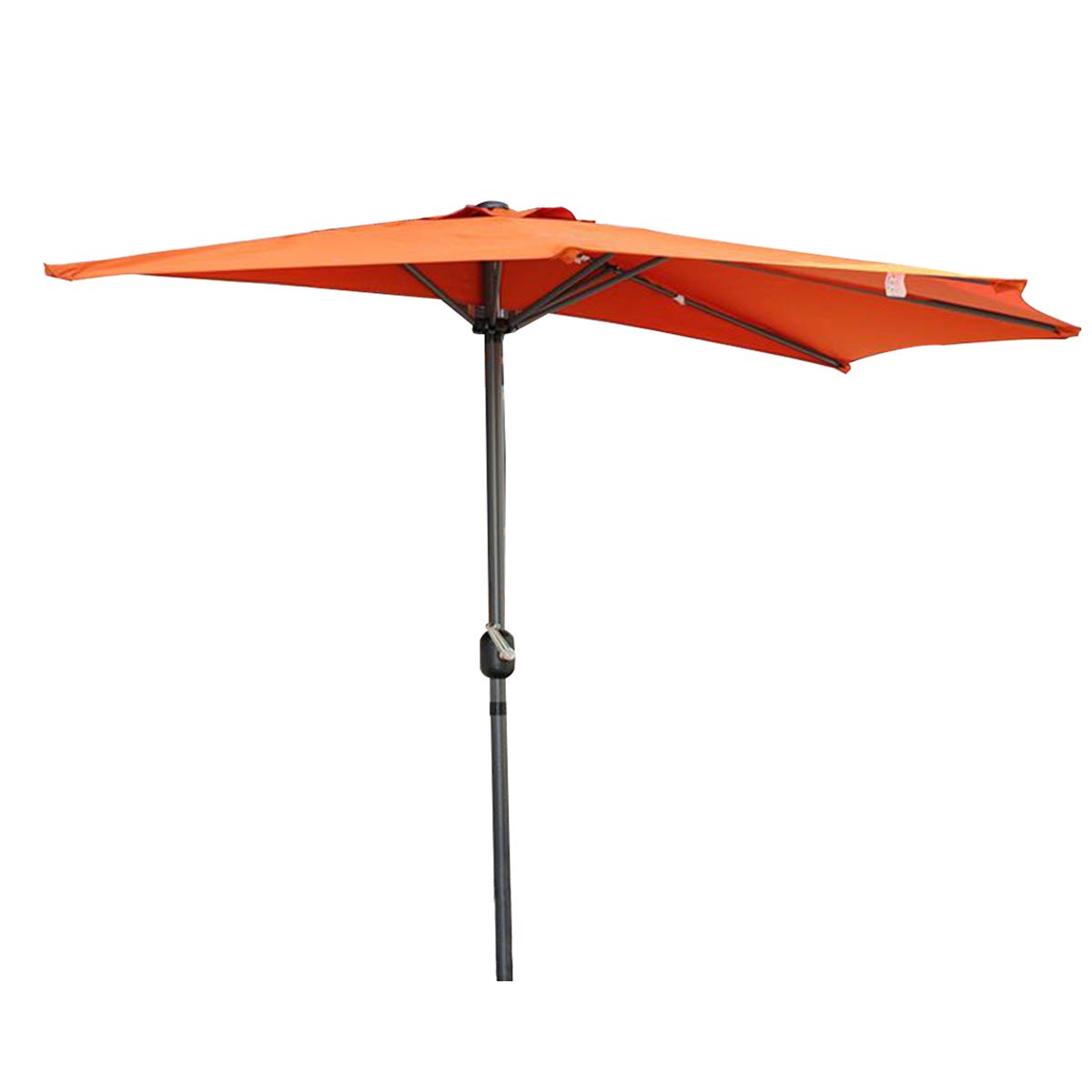 Angel Living 5814770 Garden Patio Balcony Half Round 270cm Aluminum Parasol Sun Shade Semi Round Umbrella (Apple Green)