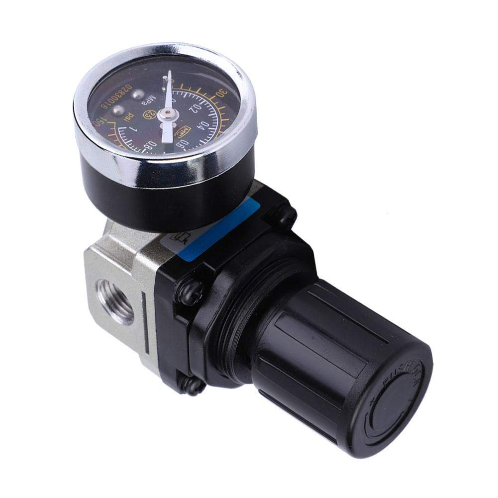 Regulador de presi/ón de aire 4Fuente de filtro de aire Compresor V/álvula reductora de presi/ón de aire para instrumentos neum/áticos AW3000-02 G1