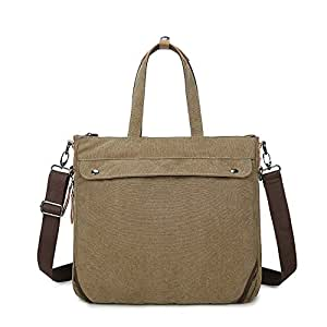 Men's Accessories Office Business Man Canvas Multifunction Briefcase Casual Backpack Handbag Khaki Outdoor Recreation