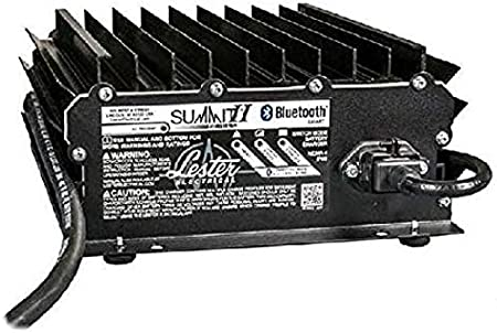 Lester Summit Series II Battery Charger - 1050W 24/36/48V with E-Z-GO TXT 36V PowerWise 2-Pin Plug with 8.5 Ft. DC Cord