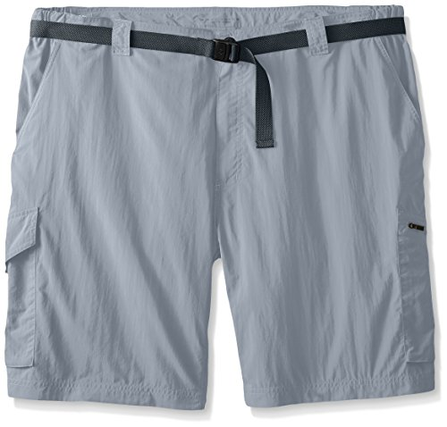 Columbia Men's Big Silver Ridge Cargo Shorts, Grey Ash, 5...