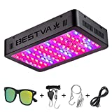 BESTVA 600W LED Grow Light Full Spectrum Dual-Chip Growing Lamp for Hydroponic Indoor