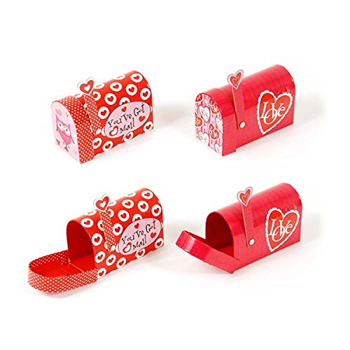 Valentines Mailbox with Front Opening and Swinging Arm, 2 designs assorted